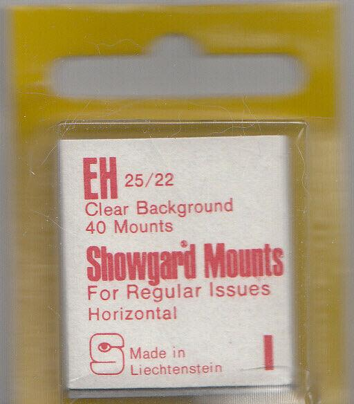 SHOWGARD CLEAR MOUNTS EH 25X22 (40) RETAIL PRICE $3.95