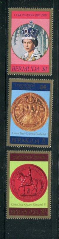 Bermuda MNH 360-2 25th Anniversary Coronation QE II 1978