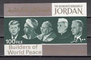 Jordan, Scott cat. 534 J. Builders of Peace s/sheet. J. Kennedy in design. *