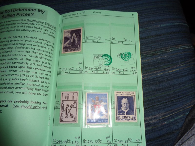 VATICAN COLLECTION IN APPROVAL BOOK, ALL MINT