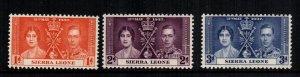 Sierra Leone   170 - 172  MNH cat $  3.75 2222