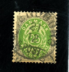 DENMARK #32A USED FVF SM THIN Cat $62