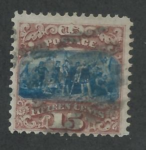 118 Used 15c. Pictorial, Type I, scv: $800