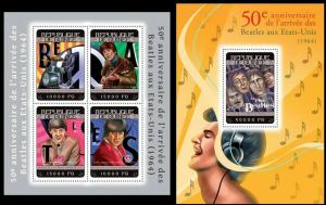 Guinea 2014 The Beatles music famous persons klb+s/s MNH