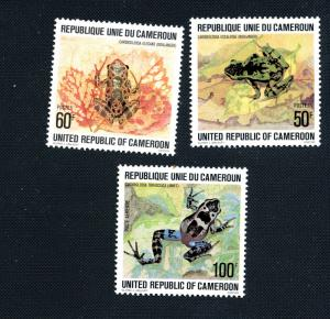 Cameroun Scott 641,642,C267 - Frogs -  M NH