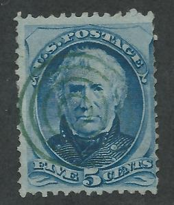 179 Used,  5c. Zachary Taylor,  Green Target Cxl,  scv: $95