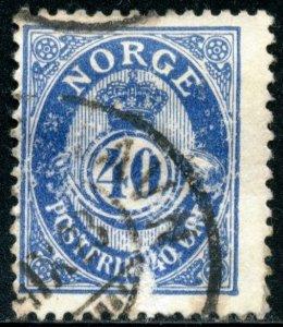 NORWAY #93, USED - 1922 - NORWAY123NS13