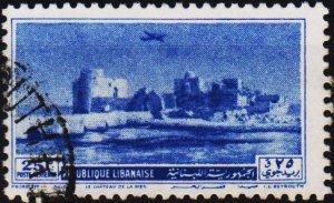 Lebanon. 1950 25p S.G.425 Fine Used