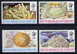 British Indian Ocean Territory 1972 Coral perf set of 4 u...