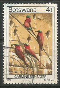 BOTSWANA, 1978, used 4t, Birds. Scott 201