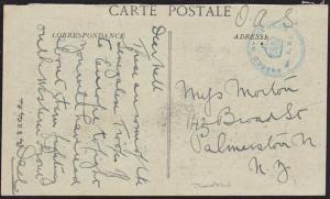 NEW ZEALAND WWI postcard ex TROOPSHIP 6 - the DEVON - Senegal troops........8969