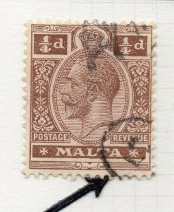 Malta 1914-22 Early Issue Fine Used 1/4d. 321502