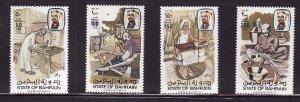 Bahrain-Sc#282-5- id7-unused NH set-Handicrafts-1981-