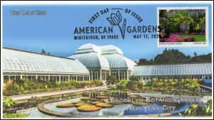 20-134, 2020, American Gardens, Pictorial Postmark, First Day Cover, Brooklyn  B