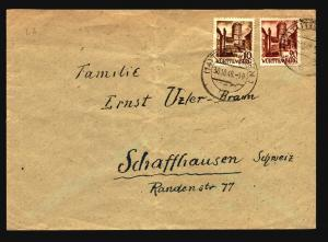 Germany 1948 Wurttemberg Cover / 30Pf Value / Light Fold - Z15652