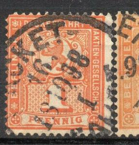Germany  classic 1860-90s used Private or  Local Post Item, Berlin 317475