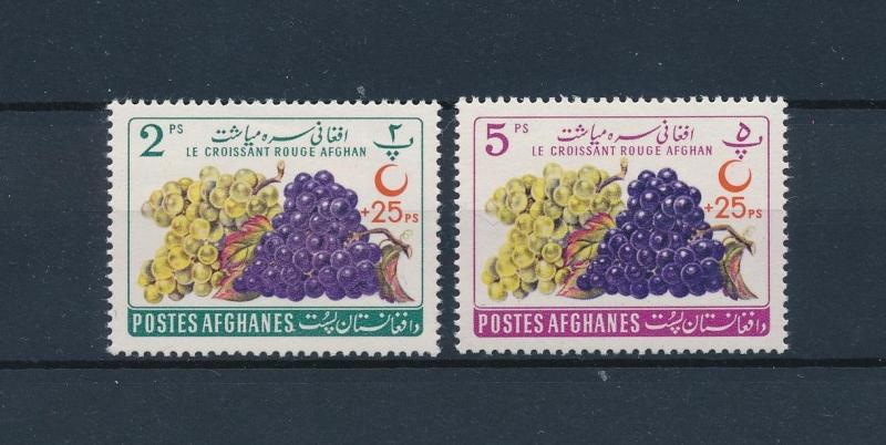 [58388] Afghanistan 1961 Wine grapes with overprint Red Crescent Vin  MNH