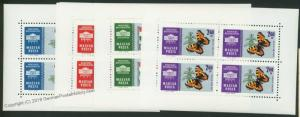 Hungary 1765-1768 Fauna Butterfly Stamp Minisheets 41544
