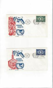 United Nations 13-4 Human Rights Cachet Craft Ken Boll FDC