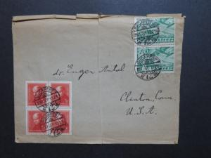 Hungary 1937 Cover to USA / Top Crease / Light Fold - Z8650