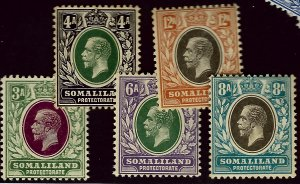 Somaliland #55-59 Mint F-VF hhr SCV$20.00...Bid to Win!