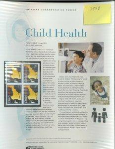 USPS COMMEMORATIVE PANEL #746 CHILD HEALTH #3938