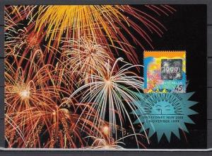 Australia, Scott cat. 1798. New Year Hologram issue on a Max. Card. ^