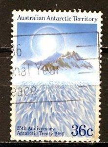 Australian Antartic Terr.; 1986: Sc. # L75: O/Used Cpl. Set