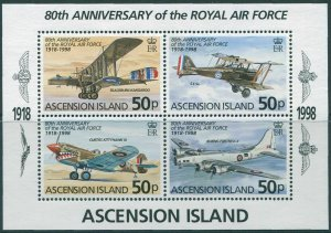 Ascension 1998 SG746 Royal Air Force MS MNH