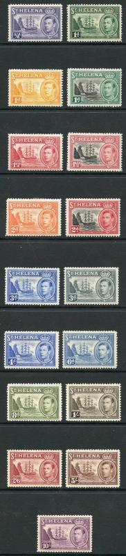 St Helena SG131/40 and SG149/51 KGVI sets M/M
