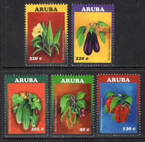 Aruba 501-505 Vegetables MNH VF