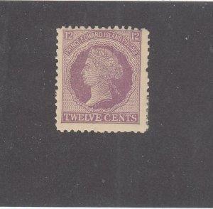 PRINCE EDWARD ISLAND # 16 VF-MNH 12cts 1868-70 QN VICTORIA /VIOLET- #03 CV $20