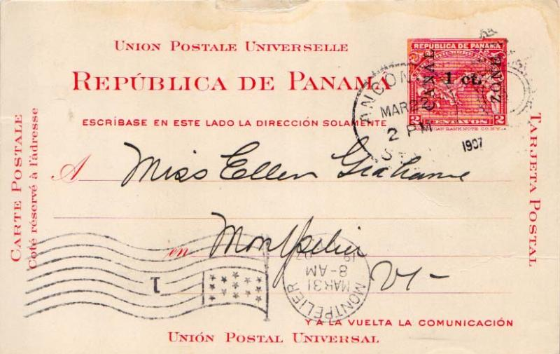 Canal Zone 1907 Postal History
