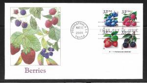 USA Scott #3294a-97a Berries Fleetwood Cachet FDC (z1)