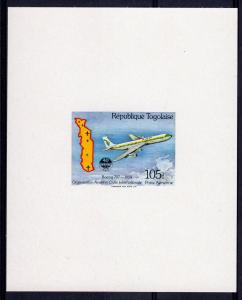 Togo 1984 Sc#1280 ICAO (UN) Aircraft  BOEING 707 - 1954 DELUXE SS MNH