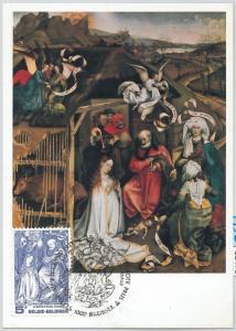 63479 -  BELGIUM - POSTAL HISTORY: MAXIMUM CARD 1976 -  ART Christmas