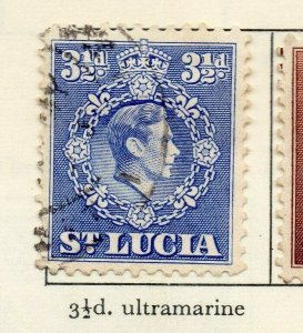 St Lucia 1938-48 GVI Early Issue Fine Used 3.5d. NW-154978