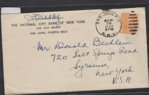 O) 1934 PUERTO RICO - OCCUPATION- USA POSSESSION - PRESIDENT-JAMES A. GARFIELD 5