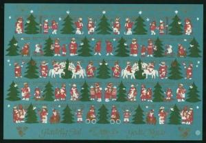 Denmark  Christmas Sheet Mnh 1980 Imperforated. Children &  Animals