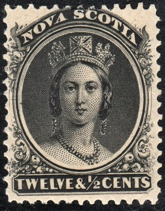 Nova Scotia #13: 12½¢ Queen Victoria (1860) MH*