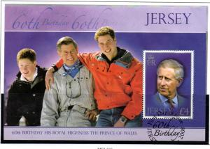 Jersey Sc 1349a 2008 Prince Charles stamp sheet used