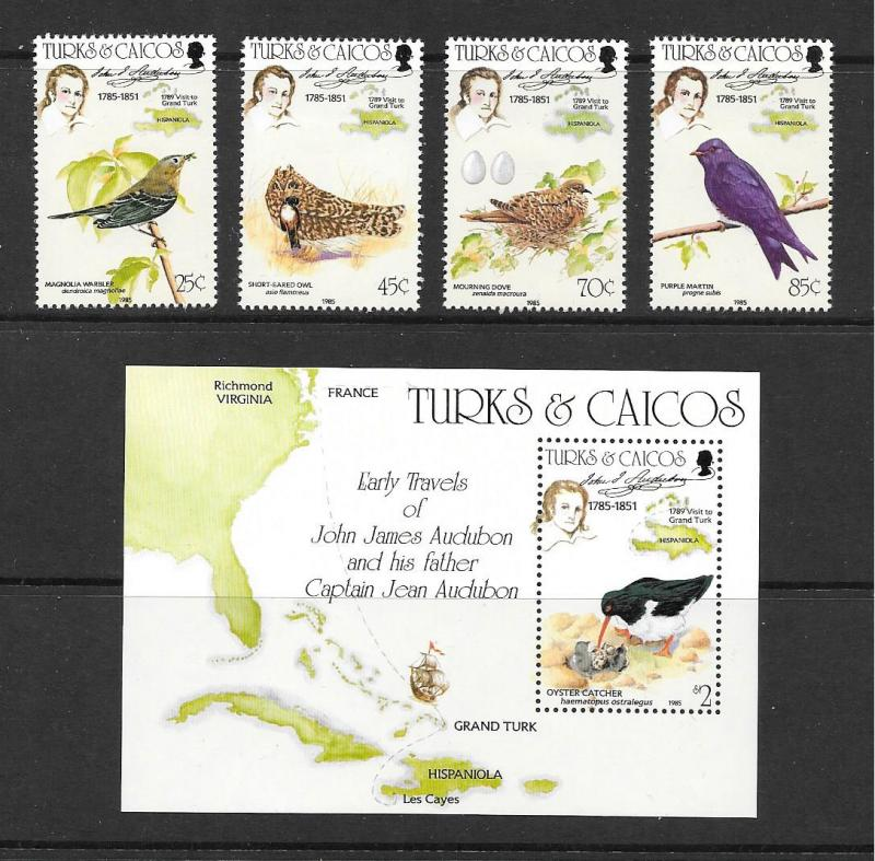Turks and Caicos Is. #651-655  Mint H