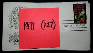 FDCs - 1971 COMMEM YEAR SET - x27 - see photo