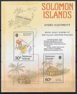 Solomon Islands MNH S/S 557 Hydro Electricity Project 1986