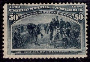 US Stamp Scott #240 MINT NO GUM SCV $190