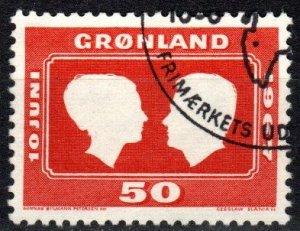 Greenland #69 F-VF Used CV $3.50 (X577)