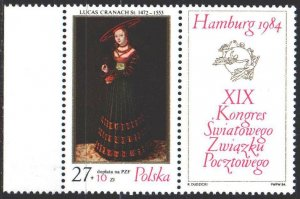 Poland. 1984. 2920. Painting, paintings. MNH.