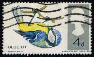 Great Britain #462 Blue Tit; Used (0.25) (2Stars)