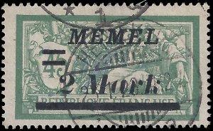 Memel 1922 Sc 72 u vf