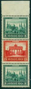 Germany 1930 Nothilfe Michel S77 MNH Brandenburger Tor Semipostal Se-Tenan 75903